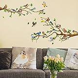 Bird and Tree Wall Decals Wall Stickers Bedroom Living Room TV Wall Door Decor Murals (Bird and Tree)