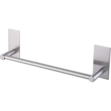 Amazon Com Kes Bathroom Lavatory Self Adhesive Single Towel Bar 12 Inch Brushed Sus304 Stainless Steel A7000s30 2 Home Kitchen