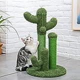 de minimis Arbre à Chat Griffoir Sisal de Qualité Décoration Cactus Vert Hauteur 68.5cm