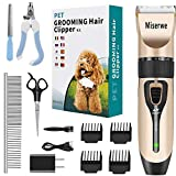 Best Dog Clipper - MISERWE Rechargeable Cordless Pet Clippers Low Noise Electric Review