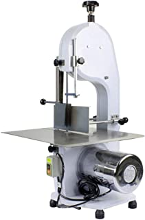 Electric Bone Cutting Machine Commercial Frozen Meat Slicer Large Table Saw Deli Meat Grinder Butcher Band Saw Blades Mincer Cutter Thickness Adjustable for Restaurant Cut Bone Frozen Beef Meat (1100W)