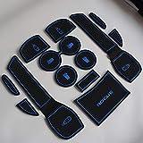 Weigesi Car Non Slip Interior Door Mat Cup Mat Gate Slot Pad Cup Holder Insert Mat for 2014-2020 Rogue 12pcs (Blue)