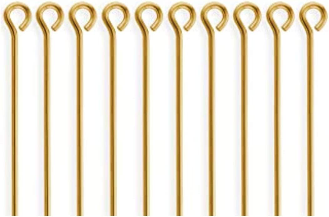 100 Albuquerque Mall Pieces 14k Gold Filled Eye Pins Connect 2 inch Cheap bargain Gauge Wire 22