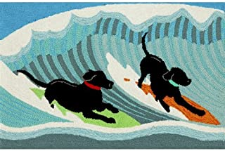 Highland Dunes Climsland Surfing Dogs Doormat