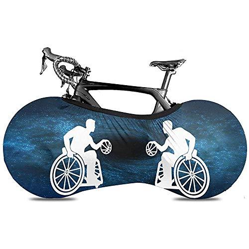 HUA Cubierta de Bicicleta Silla de Ruedas Baloncesto Cubierta de Polvo Universal para Bicicleta a Prueba de Polvo Cubierta de Polvo elástica a Prueba de arañazos Bolsa de Almacenamiento