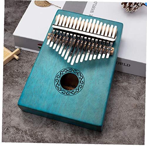 1 Satz 17 Keys Kalimba Daumenklavier Kalimba Minidiy Thumb Musikinstrumente Massivholz Körper Finger Klavier Kalimba Mit Tune Hammer Blau
