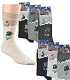 Fan-O-Menal Socken 3er-Pack Unisex Motiv - Rucksack Landhaus - 56355/2 Gr. 39-46 Größe 39-42