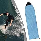 Copertura da Surfboard Protettiva, Calzini da Skateboard a Strisce, Borse per Sci Nautico Anti-UV a Prova di Polvere, Diversi Colori/Dimensioni, per Impianto da Sci da Spiaggia,Blu,180 * 50