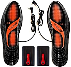 Thermrup Electric Heated Insoles Far Infrared (FIR) Foot Warmers Rechargeable Li-Ion Battery(4 Temperature Settings) Size 4.5-14, High Temperature