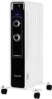 Orbegozo RJ 1500 – Radiador de aceite, 7 elementos, 1500 W, luz LED, termostato regulable, ruedas pivotantes