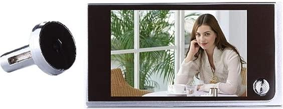 Daqin Video Doorbell, HD Smart Wireless Walkie-Talkie Smart Doorbell, 3.5inch LCD Door Peephole Viewer Doorbell Security Camera Remote doorbell kit (Color : White)