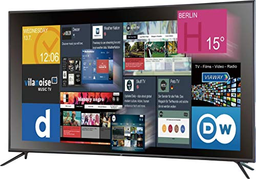 JTC Atlantis LED-TV 164cm 65 Zoll EEK A (A++ - E) DVB-T2, DVB-C, DVB-S, UHD, Smart TV, CI+ Schwarz