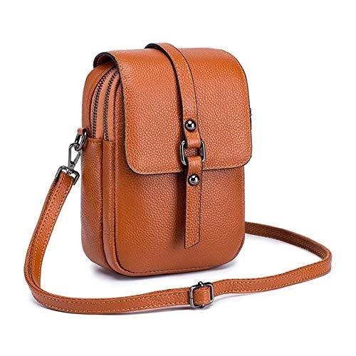 Ys-s Personalización de la Tienda Bolsas de Cuero literales Bolsas de Cuero Menor Crossbody Bolsa de la Marca Diseñador de la Marca Mujer Monedero Mini Messenger Bag (Color : Yellow, Size : XL)