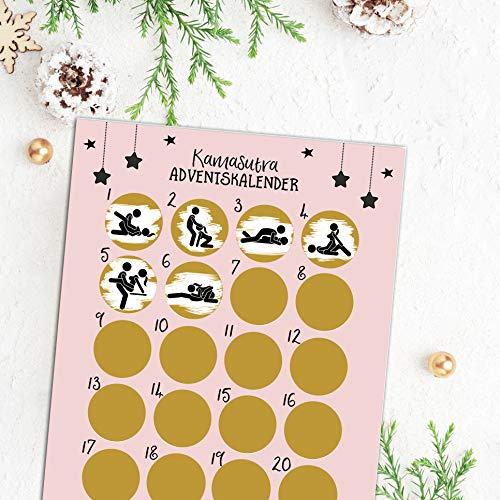 Nastami Adventskalender zum Rubbeln ICH Liebe Dich Adventskalender A3 Weihnachtskalender (Kamasutra)