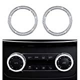 Bling Bling Crystal Air Conditioner Control Switch Knob Regulator Caps Diamond Cover Decals Decorations Trim for Mercedes-Benz C GLS GLK GLE CLS SLC W204 X166 W218 R172