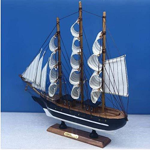 ZGYQGOO Modelo de Barco de Vela Barcos de Vela de Madera Blanca Modelo de Barco Juguetes para niños Regalo Regalos de Barco en Miniatura Recuerdos 33Cm