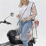 SHJIA Transparent Regenmantel Lange Regenmantel für Frauen wasserdichte Jacke...