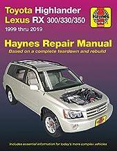 Toyota Highlander Lexus RX 300/330/350 1999 thru 2019 Haynes Repair Manual: 1999 thru 2019 (Haynes Automotive)