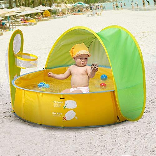 HUA JIE Piscina Hinchable Toldo, Plegable Piscinas Desmontables, Fast Summer Set Pool PVC Gruesas Resistente Al Niños Adultos Bebés para Niños De Entre 1 Y 3 Años
