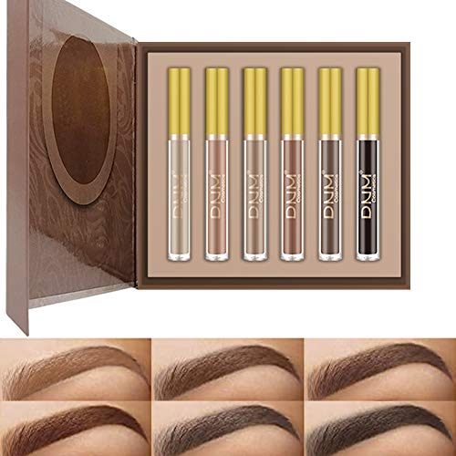 Eyebrow Tinted gel Set, 6 Colors Eyebrow Dyeing - Waterproof,Eyebrow Tint Mascara, Brow Gel Cream For Long Lasting Light Blonde Soft Brown Black