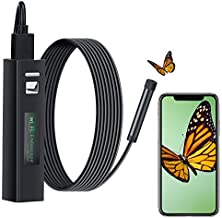 Wireless Inspection Borescope, Fantany 2.0 MP HD Inspection Endoscope Camera 72 Degrees Adjustable IP68 Waterproof Borescope for Android and iOS Smartphone-Black(10.6FT)