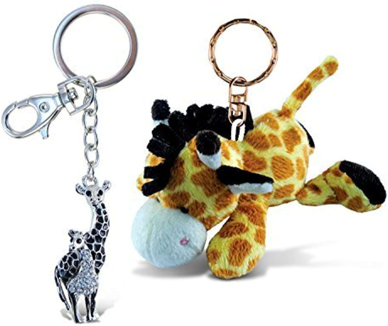 Puzzled Giraffe Super Soft Plush and Sparkling Charm  Zoo Animals Theme  Set of 2  Unique and Useful Gift and Souvenir  Item  K58236617 by Puzzled