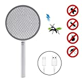 Deckey Electric Fly Swatter, Insect Killer, Fly Catcher with Rechargeable Battery, Toxic