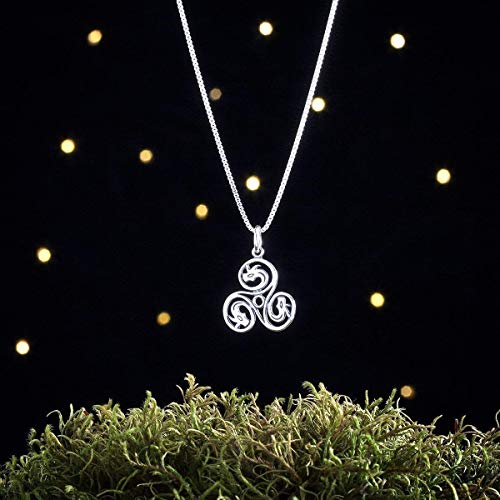 Sterling Silver Celtic Dragon Triskelion - Double Sided - (Charm Only or Necklace)