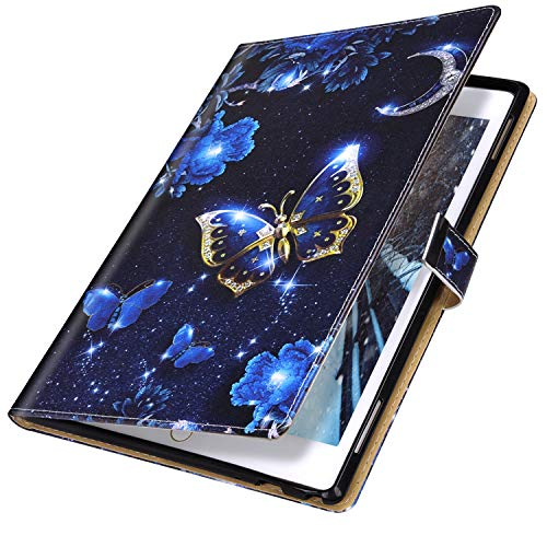 MoreChioce compatible avec Coque Samsung Galaxy Tab S5E T720/T725 Antichoc Étui en Cuir Housse de Protection Smart Cover Stand Flip Tablette Case Portefeuille Magnétique avec Support,Trois Papillons