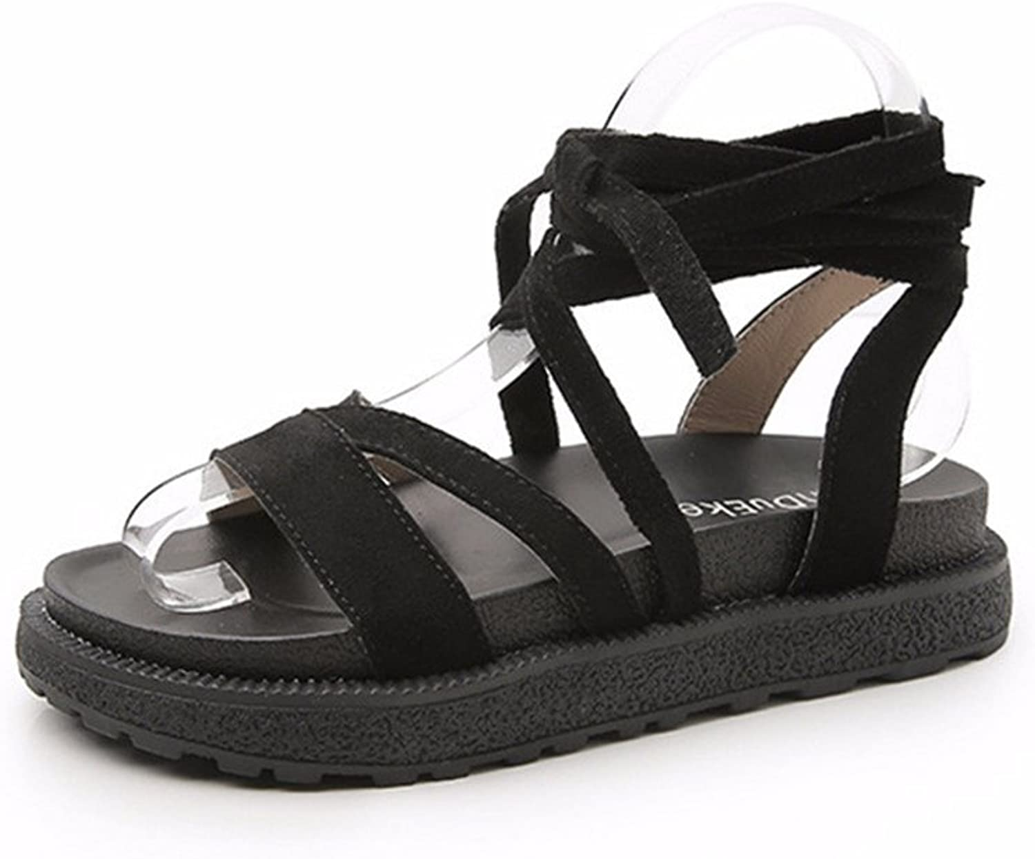 Super explosion Womens Lace up Flat Sandals Ankle Strappy Gladiator Sandal Flat shoes