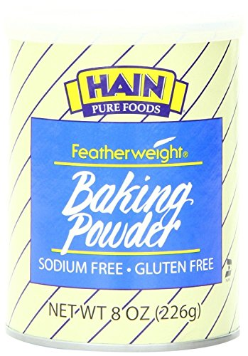 Hain Pure Foods Featherweight Baking Powder, 8 Ounce ( 2 Pack )