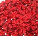 CODE FLORIST 2200 PCS Dark-Red Silk Rose Petals Wedding Flower Decoration