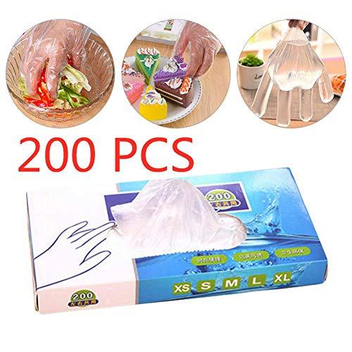 Dettelin Transparante wegwerphandschoenen, verdikte plastic handschoenen, rubberen handschoenen voor de keuken, EHBO-personeel
