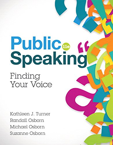 Compare Textbook Prices for Public Speaking 11 Edition ISBN 9780134380926 by Turner, Kathleen J.,Osborn, Randall,Osborn, Michael,Osborn, Suzanne