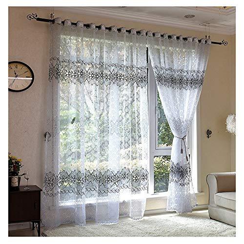 cortinas transparentes gris salon