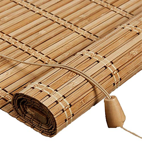Holzrollo Außen Bambus Rollo for Fenster/Pavillon/Balkon/Terrasse, Bambus Jalousien mit Volant - 70/80/90/100/110/120/130 / 140cm Breite (Size : 110x130cm)