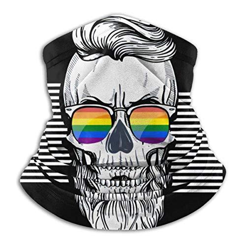 YUIT Cráneo Gay Cálido Cómodo A prueba de polvo Deportes Transpirable Protector facial Pañuelo sin costuras Bufanda UV Deporte Pasamontañas