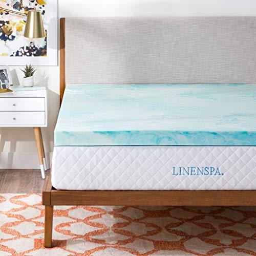 Linenspa 3 Inch Gel Swirl Memory Foam Topper, Full