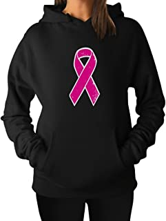 Tstars Breast Cancer Awareness - Distressed Pink Ribbon Women Hoodie