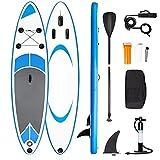 Tabla de Paddle Surf Hinchable Sup Inflatable Stand up Paddle Board PVC con Bomba de Doble, Remo Ajustable, Caja de reparación, alerón, Bolsa de Transporte (RY-305)