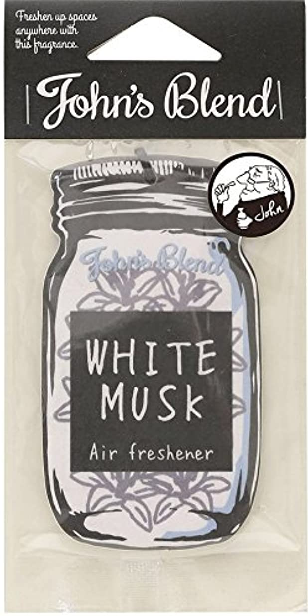 素晴らしき部語【12個セット】John'sBlend エアーフレッシュナー WHITEMUSK ノルコーポレーション OAJON0101