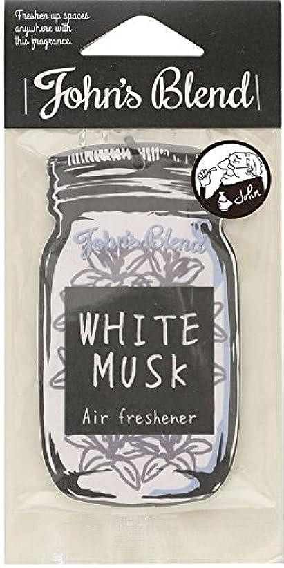 ペルソナ一致二次【12個セット】John'sBlend エアーフレッシュナー WHITEMUSK ノルコーポレーション OAJON0101