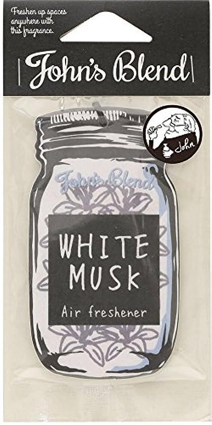 【12個セット】John'sBlend エアーフレッシュナー WHITEMUSK ノルコーポレーション OAJON0101