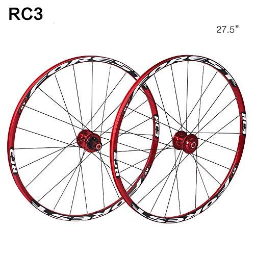 Paire de roues vélo de montagne VTT double paroi Moyeu libre alliage aluminium Jante Frein disque...