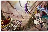 Lienzo Pintura Al óLeo 60x90cm Casa Decorativa One Pie GOL D. Roger Vs Edw Newa Poster Y Estampados Arte Cuadros Sin Marco
