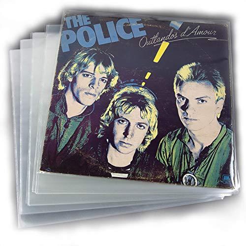 """Lot de 100pochettes pour disques vinyle 12"""" (33tours) - Transparentes et protectrices"""