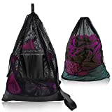 Mesh Drawstring Bag M-Plateau New Equipment tote bag Net Athletic Backpack for Gym, Laundry,Diving, Swimming, Pool , Beach, Baseballs, Boating, Rafting, Camping and Fishing with Zipper Phone Case