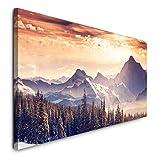 Paul Sinus Art GmbH Landschaft Alpen 120x 50cm Panorama