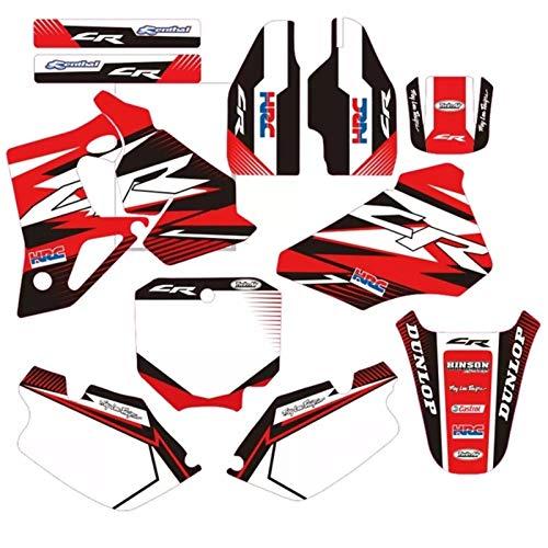 Fahrrad Motocross Aufkleber for Honda CR 80 CR80 1996 1997 1998 1999 2000 2001 2002 Voll Graphics-Abziehbild-Aufkleber Motorrad-Hintergrund