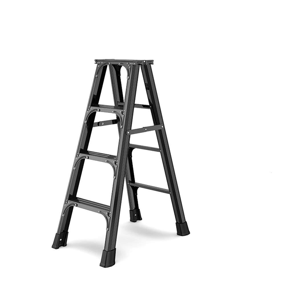 QFF - Escalera plegable de doble cara, escalera de seguridad interior, para renovar interiores, 46,5 x 82 x 116 cm, plegable., negro: Amazon.es: Bricolaje y herramientas